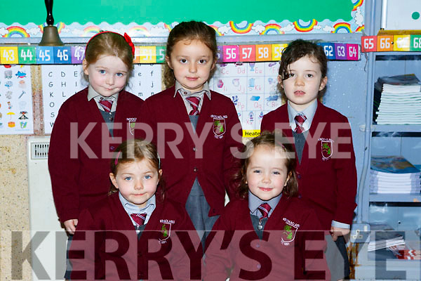 Siobhain Lenihan  junior infants at Knockaclarig NS at school on Monday