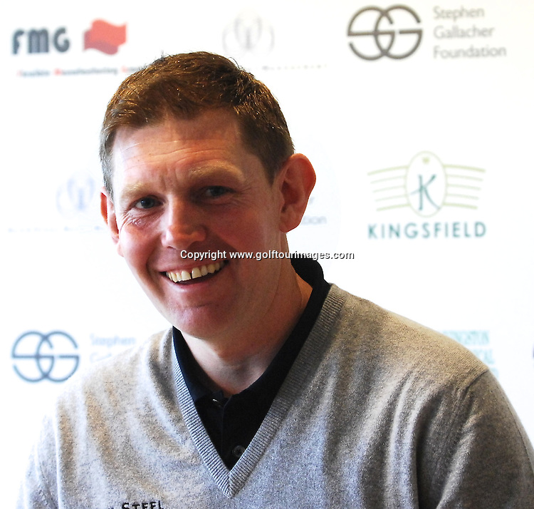 Stephen Gallacher launches the Stephen Gallacher Foundation at Kingsfield Golf Centre, Linlithgow, Scotland on 29th February 2012: Picture, Joey Kelly,  www.golftourimages.com , 29th February 2012