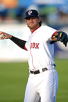 Pawtucket Red Sox third baseman Will Middlebrooks (#24) prior to a game versus the Rochester Red Wings on September 4, 2011 at McCoy Stadium in Pawtucket Rhode Island. Ken Babbitt/Four Seam Images
