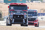 Portuguese driver Jose Ferando Araujo Rodrigues belonging Portuguese team Jose Ferando Araujo Rodrigues during the super pole SP1 of the XXX Spain GP Camion of the FIA European Truck Racing Championship 2016 in Madrid. October 01, 2016. (ALTERPHOTOS/Rodrigo Jimenez)