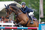Ireland's jockey Jessica Kurten with the horse Vicente during 102 International Show Jumping Horse Riding, Gran Prix of Madrid-Volvo Throphy.May, 19, 2012. (ALTERPHOTOS/Acero)
