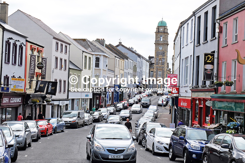High Street, Enniskillen, Co Fermanagh, N Ireland, UK, 20th June 2015, 201506201147<br /> <br /> Copyright Image from Victor Patterson,<br /> 54 Dorchester Park, Belfast, UK, BT9 6RJ<br /> <br /> t1: +44 28 90661296<br /> t2: +44 28 90022446<br /> m: +44 7802 353836<br /> <br /> e1: victorpatterson@me.com<br /> e2: victorpatterson@gmail.com<br /> <br /> For my Terms and Conditions of Use go to<br /> www.victorpatterson.com