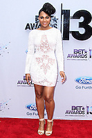 LOS ANGELES, CA - JUNE 30: Ashanti attends the 2013 BET Awards at Nokia Theatre L.A. Live on June 30, 2013 in Los Angeles, California. (Photo by Celebrity Monitor)