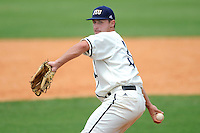2 May 2010:  FIU's Daniel DeSimone (36) pitches in the seventh inning as the University of Louisiana-Monroe Warhawks defeated the FIU Golden Panthers, 8-7 in 11 innings, at University Park Stadium in Miami, Florida.