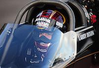 Jan 24, 2009; Chandler, AZ, USA; NHRA top fuel dragster driver Larry Dixon during testing at the National Time Trials at Firebird International Raceway. Mandatory Credit: Mark J. Rebilas-
