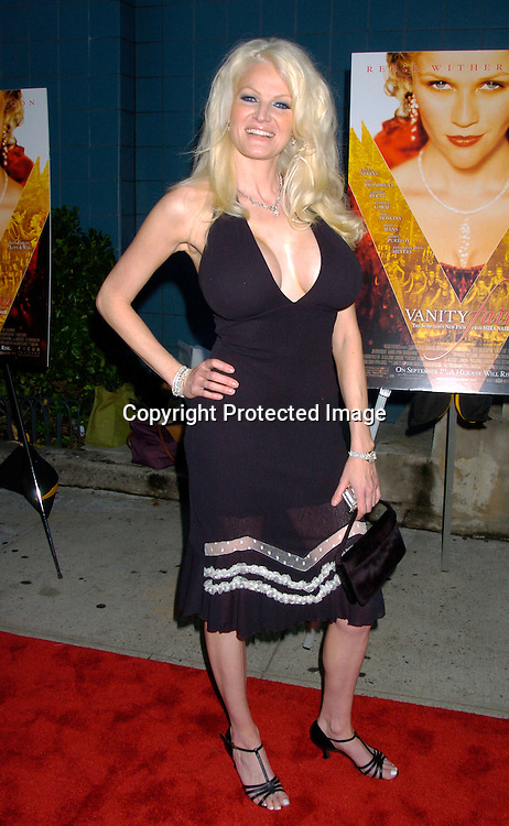 """Jill Ann Spapulding, who wrote a tell all book about HUgh Hefner ..at The New York Screening of """"Vanity Fair"""" starring ..Reese Witherspoon, Romola Garai and James Purefoy ..at the Clearview Chelsea West on August 16, 2004...Photo by Robin Platzer, Twin Images"""
