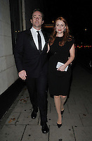 LONDON, ENGLAND - OCTOBER 04: Matthew Macfadyen &amp; Keeley Hawes attend the Shooting Star CHASE Ball, The Dorchester Hotel, Park Lane., on Saturday October 04, 2014 in London, England, UK. <br /> CAP/CAN<br /> &copy;Can Nguyen/Capital Pictures
