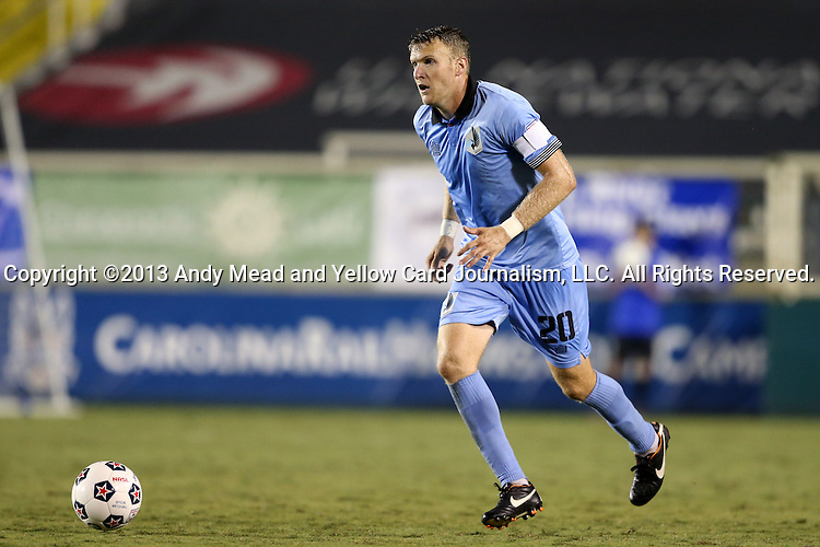 24 August 2013: Minnesota's Connor Tobin. The Carolina RailHawks played the Minnesota United FC Loons at WakeMed Stadium in Cary, NC in a 2013 North American Soccer League Fall Season game. Carolina won 1-0.
