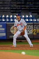St. Lucie Mets third baseman Todd Frazier (19) during a Florida State League game against the Florida Fire Frogs on April 12, 2019 at First Data Field in St. Lucie, Florida.  Florida defeated St. Lucie 10-7.  (Mike Janes/Four Seam Images)