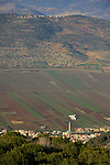 Israel, Lower Galilee. A view of Bueina-Nujeidat from Mount Turan