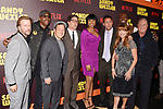 HOLLYWOOD, CA - APRIL 06: (L-R) Actors David Spade, Arsenio Hall, Rob Schneider, director Steve Brill, actress/singer Jennifer Hudson, writer/producer/actor Adam Sandler, actors Jane Seymour, Terry Crews and manager Sandy Wernick attend the premiere of Netflix's 'Sandy Wexler' at the ArcLight Cinemas Cinerama Dome on April 6, 2017 in Hollywood, California.