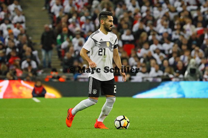 Ilkay Guendogan (Deutschland, Germany) - 10.11.2017: England vs. Deutschland, Freundschaftsspiel, Wembley Stadium