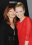 HOLLYWOOD, CA - AUGUST 01: Frances Fisher and Francesca Eastwood arrive at the Los Angeles Premiere of 'Total Recall' at Grauman's Chinese Theatre on August 1, 2012 in Hollywood, California.
