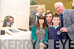 Pictured at the launch of GroundZero360, an exhibition of photographs from Ground Zero in New York, in the Department of Arts, Heritage and the Gaeltacht in Killarney on Monday were  Joanne, Kieran and Cian O'Sullivan, Killarney with Annette and Fred Lynch, Tralee. Joannes first cousin Michael F Lynch, was one of the firemen who lost his life in the September 11th disaster.