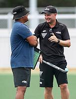 Jude Menezes (L) and Graham Smith. North Harbour Hockey Stadium, Rosedale, Auckland,  New Zealand Monday 20 January 2020. Photo: Simon Watts/www.bwmedia.co.nz/HockeyNZ