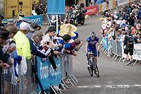 Dries Devenyns (BEL/Deceuninck - QuickStep) up the final stretch to the finish line up La Planche des Belles Filles<br /> <br /> Stage 6: Mulhouse to La Planche des Belles Filles (157km)<br /> 106th Tour de France 2019 (2.UWT)<br /> <br /> ©kramon