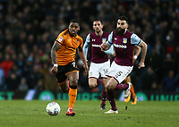 Mile Jedinak of Aston Villa and Ivan Cavaleiro of Wolverhampton Wanderers chase the ball.<br /> <br /> Photographer Leila Coker/CameraSport<br /> <br /> The EFL Sky Bet Championship - Aston Villa v Wolverhampton Wanderers - Saturday 10th March 2018 - Villa Park - Birmingham<br /> <br /> World Copyright &copy; 2018 CameraSport. All rights reserved. 43 Linden Ave. Countesthorpe. Leicester. England. LE8 5PG - Tel: +44 (0) 116 277 4147 - admin@camerasport.com - www.camerasport.com