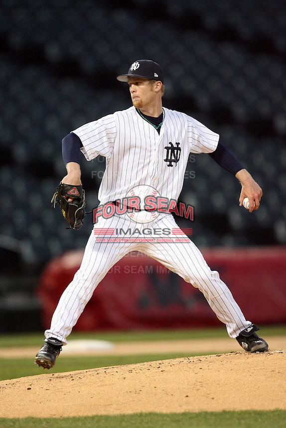 April 15, 2009: Ryan Richter (23) of the Notre Dame Fighting Irish at US Cellular Field in Chicago, IL.  Photo by: Chris Proctor/Four Seam Images