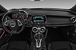 Stock photo of straight dashboard view of 2016 Chevrolet Camaro 2SS 2 Door Coupe Dashboard