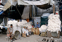 Newly picked cotton and hemp rope on sale at market in Islamabad, Pakistan