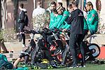 07.01.2020, Sportzentrum RCD Mallorca, Son Bibiloni, ESP, TL Werder Bremen -  Training Tag 02<br /> <br /> im Bild / picture shows <br /> Dehnuebungen / Gymnastik EGO Rad der Spieler nach dem  Freundschaftspiel<br /> Niklas Moisander (Werder Bremen #18 Kapitaen)<br /> Claudio Pizarro (Werder Bremen #14)<br /> Sebastian Langkamp (Werder Bremen #15)<br /> Michael Lang (Werder Bremen #04)<br /> Foto © nordphoto / Kokenge