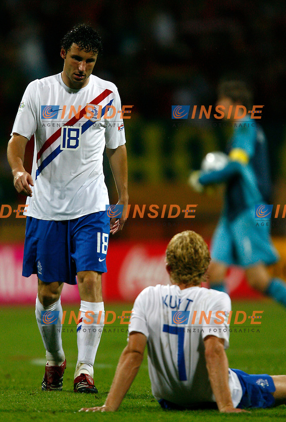 Nuremberg 25/6/2006 World Cup 2006 Ottavi di finale Portogallo Olanda 1-0.Photo Andrea Staccioli Insidefoto.Mark Van Bommel Dirk Kuyt Netherlands .
