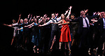 Francis Jue, Megan McGinnis, Harriet Harris, Gavin Creel, Rob Ashford, Dick Scanlan, Jeanine Tesori, Sutton Foster, Sheryl Lee Ralph, Marc Kudisch, Darren Lee during the curtain Call bows for the Actors Fund's 15th Anniversary Reunion Concert of 'Thoroughly Modern Millie' on February 18, 2018 at the Minskoff Theatre in New York City.