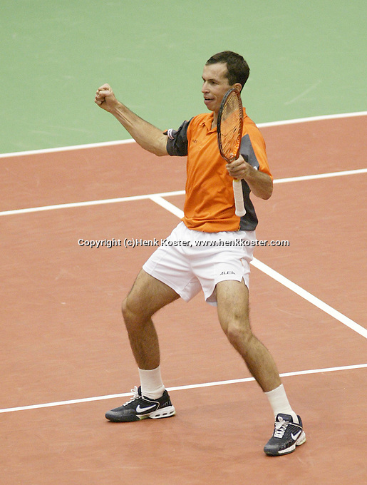 25-2-06, Netherlands, tennis, Rotterdam, ABNAMROWTT, Radek Stepanek reacts against Nikolay Davydenko