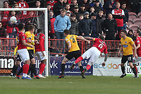 Danny Kedwell of Ebbsfleet goes close during Ebbsfleet United vs Dagenham & Redbridge, Vanarama National League Football at The Kuflink Stadium on 13th April 2019