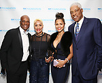 "Kenny Leon, Jennifer Thompson, Dorýs Madden and Julius ""Dr. J"" Erving attend the SDC Foundation presents The Mr. Abbott Award honoring Kenny Leon at ESPACE on March 27, 2017 in New York City."