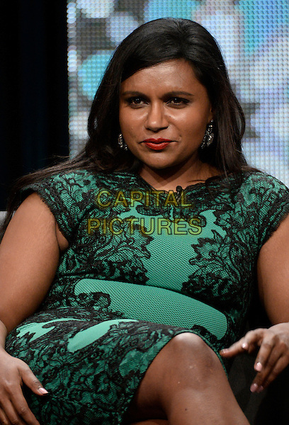 BEVERLY HILLS, CA - JULY 20: Show creator and executive producer Mindy Kaling of the show The Mindy Project attends the &quot;Behind the Laughs&quot; Comedy panel at the FOX BROADCASTING portion of the 2014 Summer Television Critics Association at The Beverly Hilton Hotel on July 20, 2014 in Beverly Hills, California. <br /> CAP/MPI/DSPG<br /> &copy;DSPG/MediaPunch/Capital Pictures
