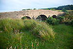 Historic Packhorse bridge at Postbridge, Dartmoor national park, Devon, England, UK crossing the East Dart river