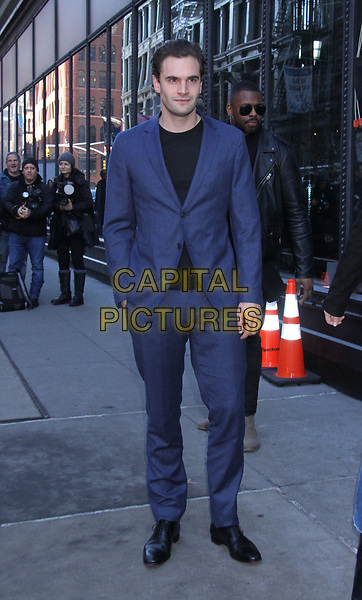 NEW YORK, NY - February 05: Tom Bateman at Build Series promoting Cold Pursuit on February 05, 2019 in New York City. <br /> CAP/MPI/RW<br /> ©RW/MPI/Capital Pictures