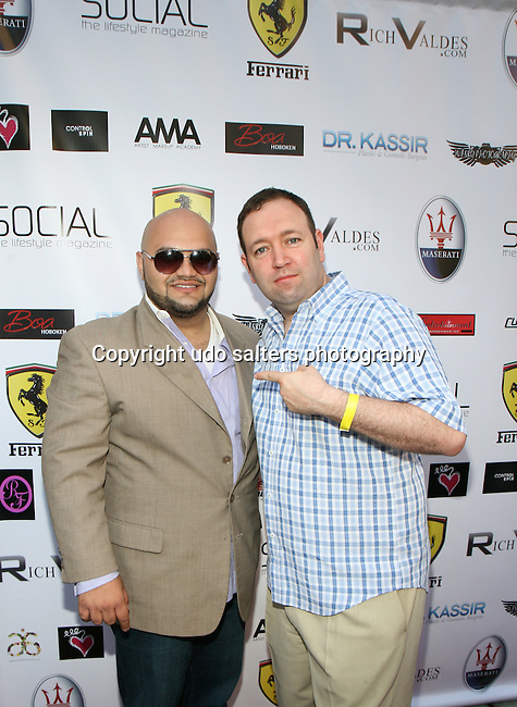 Rich Valdes and Author of The X Factor Selling System Tom Lavecchia Metropolitan Bikini Fashion Weekend 2013 Held at BOA Sponsored by Social Magazine, Maserati and Ferrari, Hoboken NJ