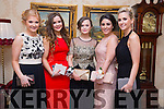 Enjoying the Mercy Mounthawk Debs at Ballyroe Heights Hotel on Tuesday were Katie Dillon, Clodagh McKenna, <br /> Aoife O'Shea, Aiveen Gavaghan, Edel Crowley