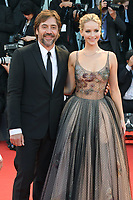 VENICE, ITALY - SEPTEMBER 5: Javier Bardem and Jennifer Lawrence attend the premiere for Mother during the 74th Venice Film Festival on September 5, 2017 in Venice, Italy.<br /> CAP/BEL<br /> &copy;BEL/Capital Pictures