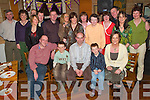 Celebration: Partying the night away on Friday at his 40th birthday in Stokers Lodge, Tralee, was Ed Duggan of Caherslee (seated centre), along with family and friends..