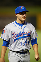 Tennessee Smokies pitcher Brad Markey (41) after a game against the Birmingham Barons on August 16, 2018 at Regions FIeld in Birmingham, Alabama.  Tennessee defeated Birmingham 11-1.  (Mike Janes/Four Seam Images)