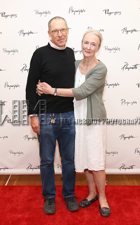 David Chandler and Kathleen Chalfant attend the meet & Greet for Playwrights Horizons New York Premiere pf 'For Peter Pan on her 70th Birthday' on July 25, 2017 at the Playwrights Horizons Studios at  in New York City.