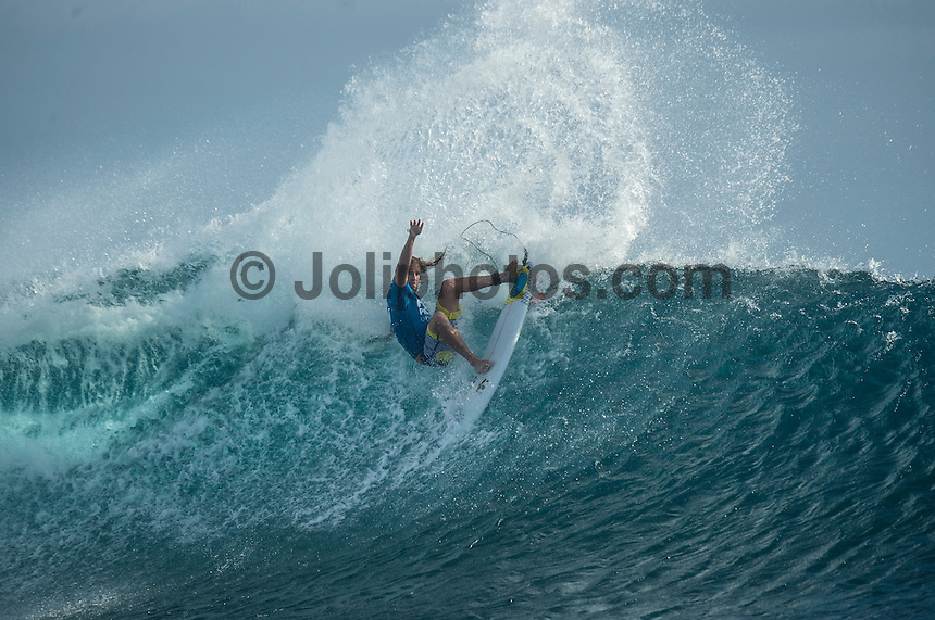 Namotu Island Resort, Namotu, Fiji. (Tuesday June 3 2014)  Matt Wilkinson (AUS) – The 2014 Fiji Pro was called on this morning with the swell running in the 3' plus range. The start was delayed till 10.30 am because of the 9.30 am high tide and then they ran the whole of Round 1. Photo: joliphotos.com, 2014) – The 2014 Fiji Pro was called on this morning with the swell running in the 3' plus range. The start was delayed till 10.30 am because of the 9.30 am high tide and then they ran the whole of Round 1. Photo: joliphotos.com June 2, 2014) – The 2014 Fiji Pro was called on this morning with the swell running in the 3' plus range. The start was delayed till 10.30 am because of the 9.30 am high tide and then they ran the whole of Round 1. Photo: joliphotos.com