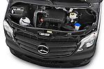 Car Stock 2014 Mercedes Benz Sprinter 316CDi MWB 4 Door Combi 2WD Engine high angle detail view