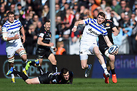Ruaridh McConnochie of Bath Rugby in possession. Gallagher Premiership match, between Exeter Chiefs and Bath Rugby on March 24, 2019 at Sandy Park in Exeter, England. Photo by: Patrick Khachfe / Onside Images