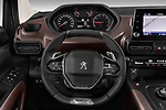 Car pictures of steering wheel view of a 2019 Peugeot Rifter GT-Line 5 Door MPV