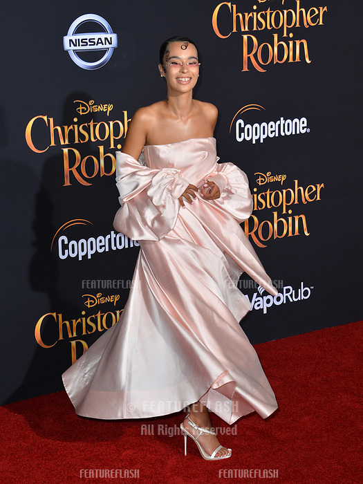 Rainy Milo at the world premiere of Disney's &quot;Christopher Robin&quot; at Walt Disney Studios, Burbank, USA 30 July 2018<br /> Picture: Paul Smith/Featureflash/SilverHub 0208 004 5359 sales@silverhubmedia.com