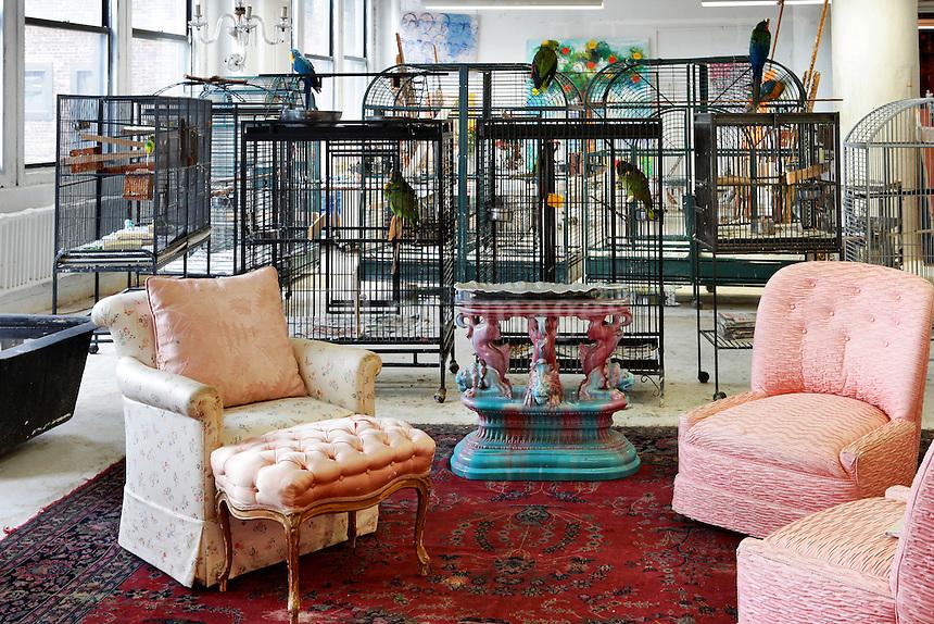 spacious art deco living room