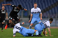 Hamed Junior Traore of Empoli , Lucas Leiva and Francesco Acerbi of Lazio compete for the ball during the Serie A 2018/2019 football match between Lazio and Empoli at stadio Olimpico, Roma, February 7, 2019 <br />  Foto Andrea Staccioli / Insidefoto