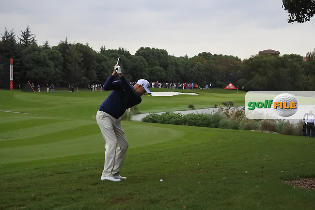Bill Haas (USA) on the 9th during round 3 of the WGC-HSBC Champions, Sheshan International GC, Shanghai, China PR.  29/10/2016<br /> Picture: Golffile | Fran Caffrey<br /> <br /> <br /> All photo usage must carry mandatory copyright credit (&copy; Golffile | Fran Caffrey)