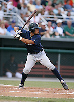 2007:  Angel Flores of the Oneonta Tigers, Class-A affiliate of the Detroit Tigers, during the New York-Penn League baseball season.  Photo by Mike Janes/Four Seam Images