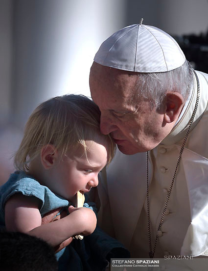 Pope Francis  during his weekly general audience on St.Peter's square at the Vatican on September 5, 2018