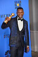LOS ANGELES, CA. January 06, 2019: Mahershala Ali at the 2019 Golden Globe Awards at the Beverly Hilton Hotel.<br /> Picture: Paul Smith/Featureflash
